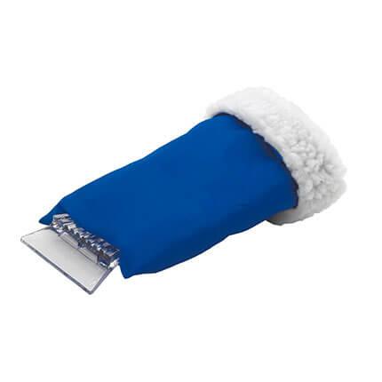 Скребок-варежка автомобильный, цвет синий