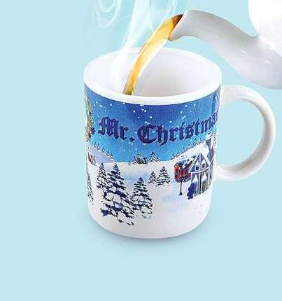 "Кружка-хамелеон ""Mister Christmas"" с термо-рисунком, фарфоровая, 200 мл"