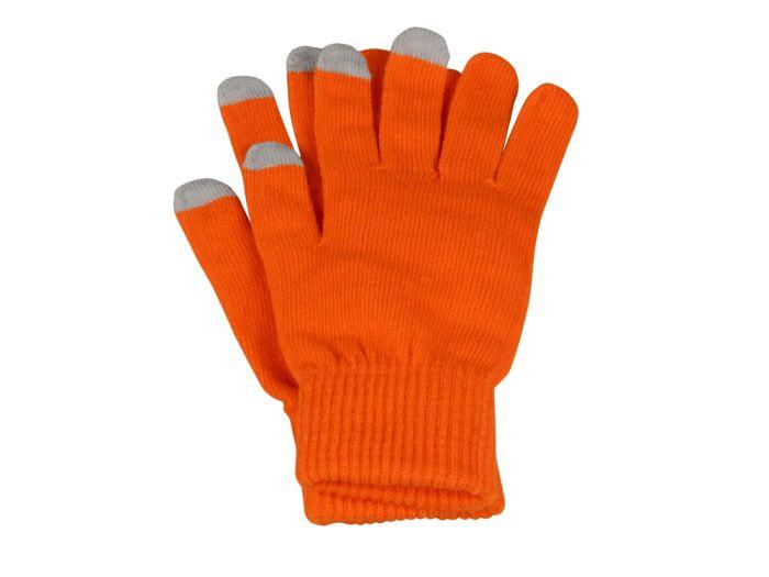"""Перчатки для сенсорного экрана """"Сет"""", цвет оранжевый, размер S/M"""