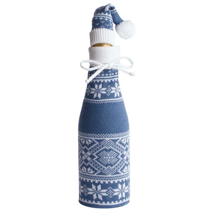 """Чехол для шампанского """"Скандик"""" с колпачком, синий (индиго)"""