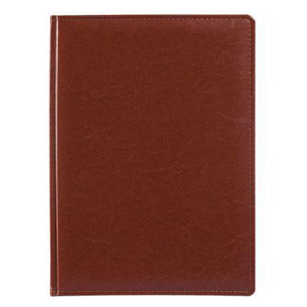 Еженедельник датированный, материал Nebraska, формат A4, цвет коричневый