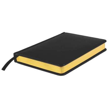 Ежедневник датированный Joy, А5, чёрный, белый блок, золотой обрез