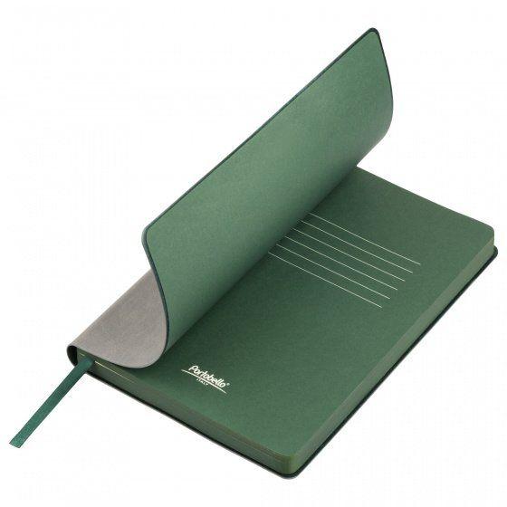Ежедневник недатированный, Portobello Trend, Latte NEW, формат A5, серый с зелёным