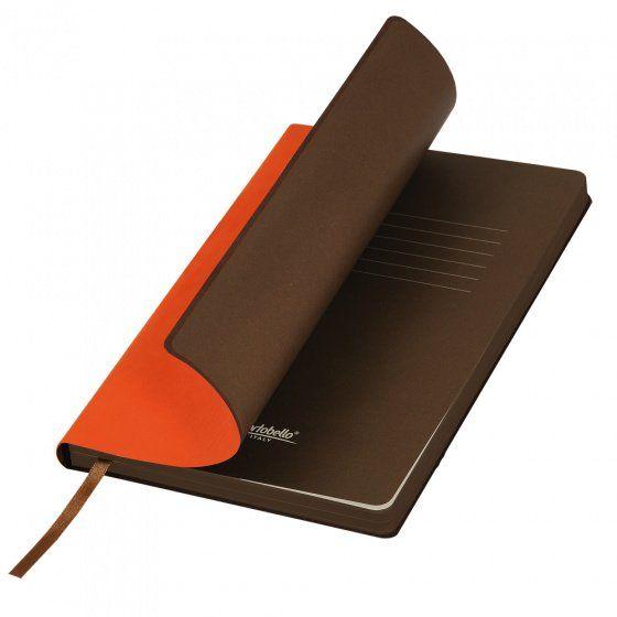 Ежедневник недатированный, Portobello Trend, Latte NEW, формат A5, оранжевый с коричневым