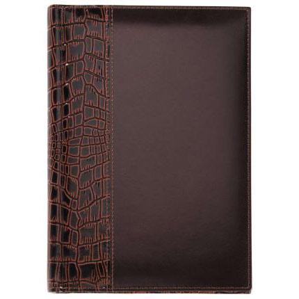 Ежедневник недатированный LUXE REPTAIL, натуральная кожа, размер 15х21 см (формат A5), цвет коричневый