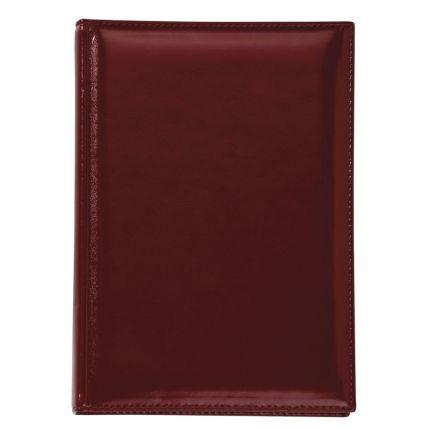 Ежедневник недатированный LUXE, натуральная кожа, размер 15х21 см (формат A5), цвет бордовый