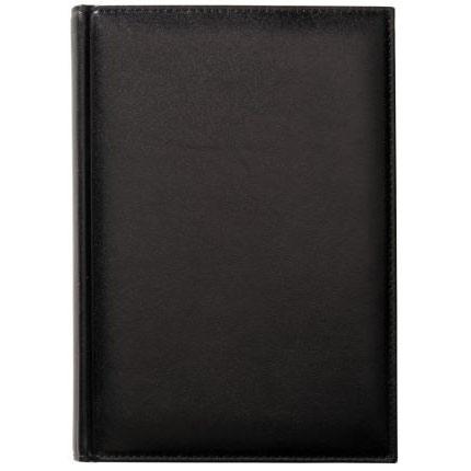 Ежедневник недатированный Condor, натуральная кожа, размер 15х21 см (формат A5), цвет чёрный