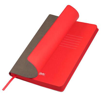 Ежедневник недатированный, Portobello Trend, Latte NEW, формат A5, цвет капучино с красным срезом