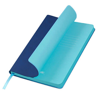 Ежедневник недатированный, Portobello Trend, Latte NEW, формат A5, цвет синий с голубым срезом