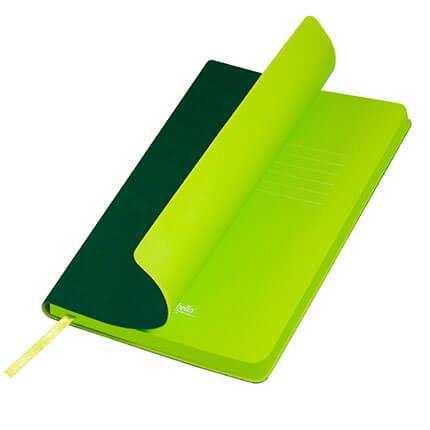 Ежедневник недатированный, Portobello Trend, Latte NEW, формат A5, цвет зелёный с лимонным срезом