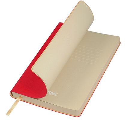 Ежедневник недатированный, Portobello Trend, Latte NEW, формат A5, цвет красный с бежевым срезом