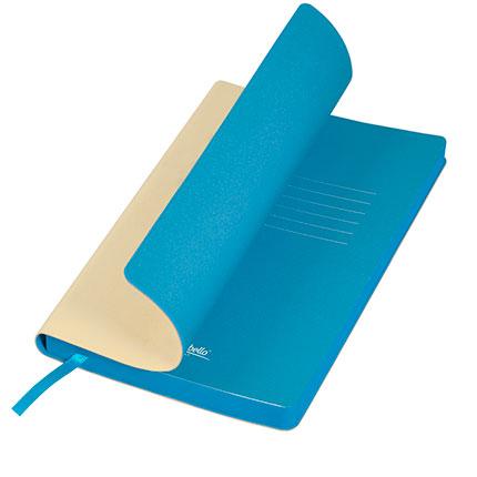 Ежедневник недатированный, Portobello Trend, Latte NEW, формат A5, цвет бежевый с голубым срезом