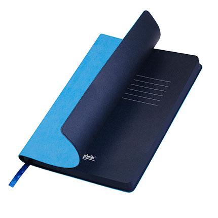 Ежедневник недатированный, Portobello Trend, Latte NEW, формат A5, цвет голубой с синим срезом