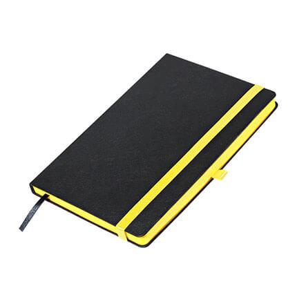 Ежедневник недатированный, Portobello Trend, коллекция Aurora, формат A5 цвет чёрный с жёлтым срезом