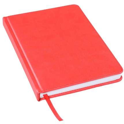 Ежедневник недатированный Bliss, А5, красный, белый блок, без обреза
