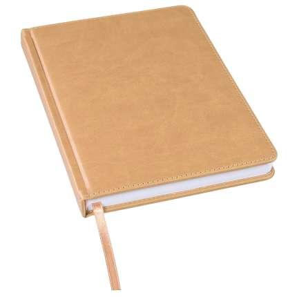 Ежедневник недатированный Bliss, А5, светло-коричневый, белый блок, без обреза