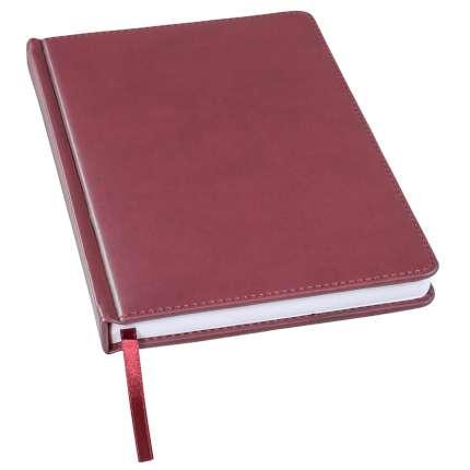 Ежедневник недатированный Bliss, А5, бордовый, белый блок, без обреза