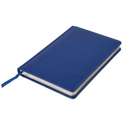 Ежедневник недатированный Joy, А5, синий, белый блок, серебряный обрез