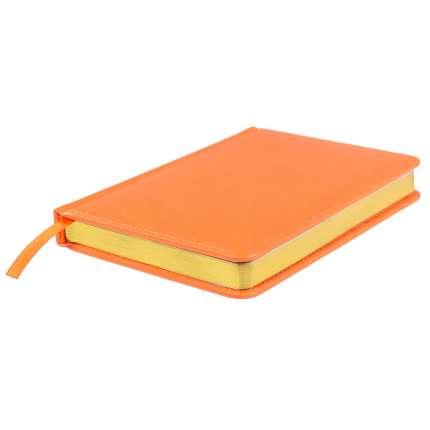 Ежедневник недатированный Joy, А5, оранжевый, белый блок, золотой обрез