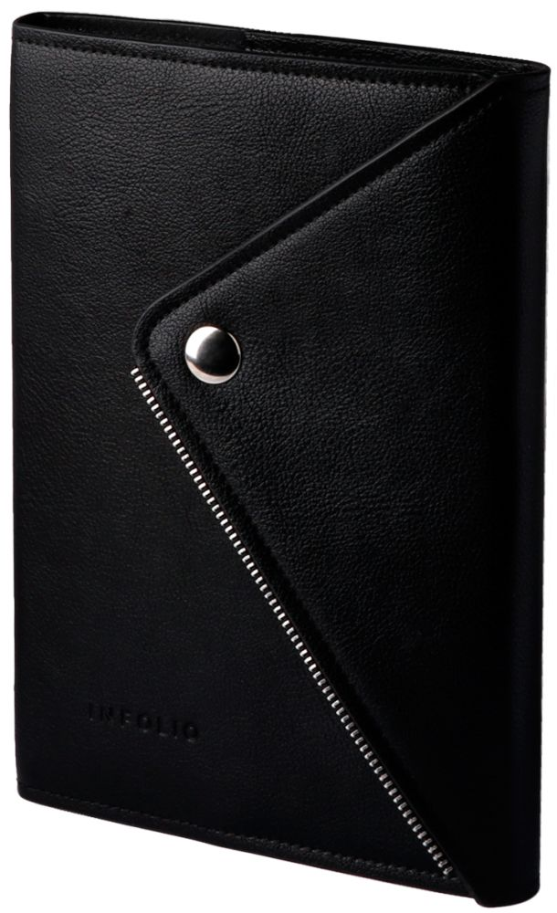 """Ежедневник недатированный (бренд InFolio) коллекция """"Grunge"""", формат A5, переплёт - суперобложка, цвет чёрный"""