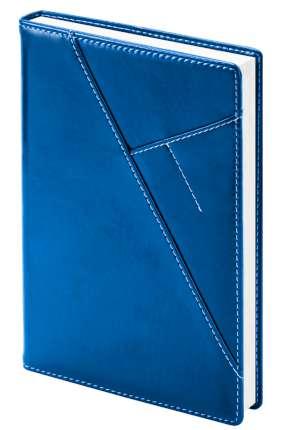 """Ежедневник недатированный (бренд InFolio) коллекция """"Portland"""", формат A5, переплёт твёрдый с поролоном, цвет синий"""