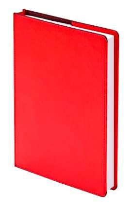 """Ежедневник недатированный (бренд InFolio) коллекция """"Barcelona"""", формат A6+, переплёт суперобложка, цвет красный"""