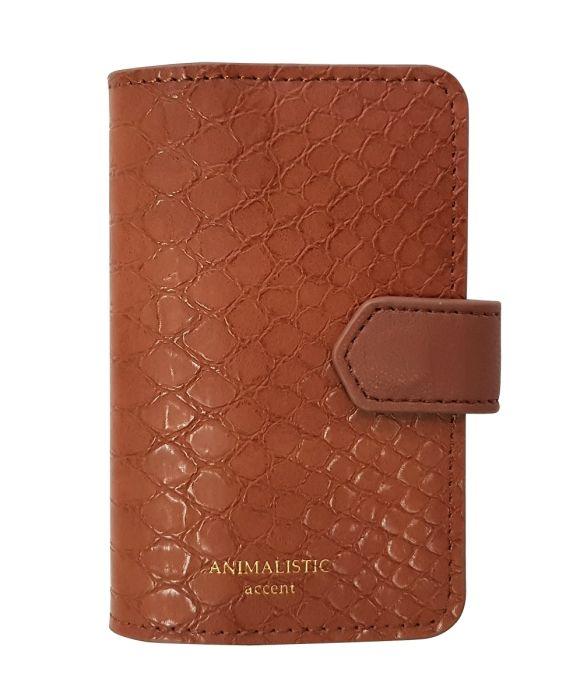 Визитница на 1 окно Animalistic, цвет  коричневый, мягкий, размер 7,7х10,5