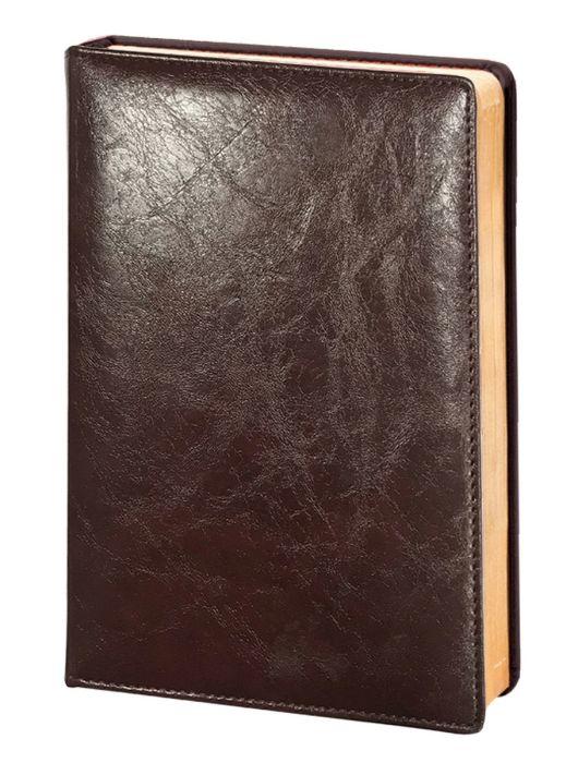 Ежедневник недатированный  Infolio Challenge коричневый, обложка твердая с поролоном , размер А5
