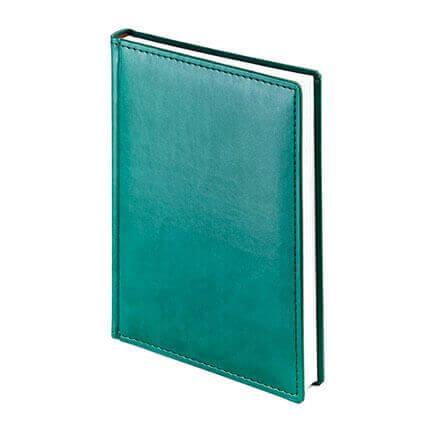 Ежедневник недатированный VELVET (АР), формат A5, белая бумага, цвет зелёный