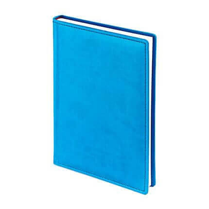 Ежедневник недатированный VELVET (АР), формат A5, белая бумага, цвет синий флюор