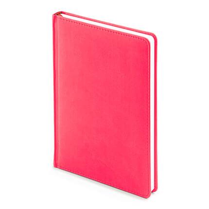 Ежедневник недатированный VELVET (АР), формат A5, белая бумага, цвет розовый флюор
