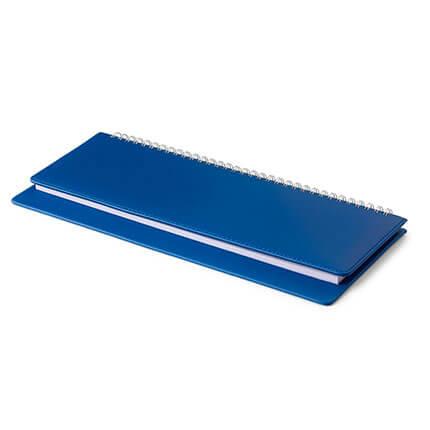 Планинг недатированный VELVET (АР), с открытым гребнем 30,5х13 см, белая бумага, цвет синий