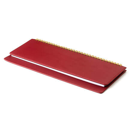 Планинг недатированный VELVET (АР), с открытым гребнем 30,5х13 см, белая бумага, цвет красный