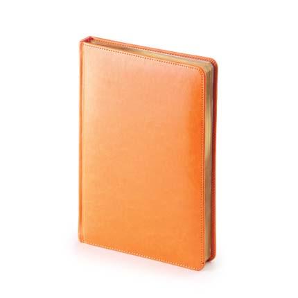 Ежедневник датированный SIDNEY NEBRASKA (АР), формат A5, белая бумага, цвет оранжевый