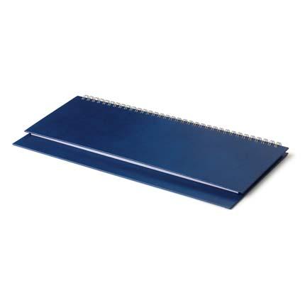 Планинг недатированный БУМВИНИЛ (АР), с открытым гребнем 30,5х13 см, белая бумага, цвет синий