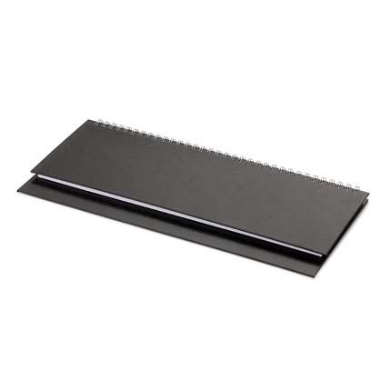 Планинг недатированный БУМВИНИЛ (АР), с открытым гребнем 30,5х13 см, белая бумага, цвет черный