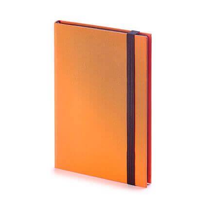 Еженедельник недатированный TANGO (АР), формат B6, обрез графитовый, бежевая бумага, цвет оранжевый