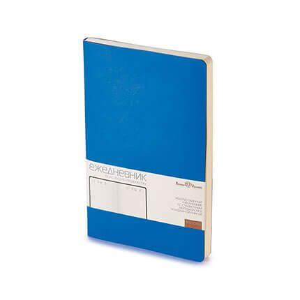 Ежедневник недатированный MEGAPOLIS FLEX (АР), формат A5, бежевая бумага, цвет синий