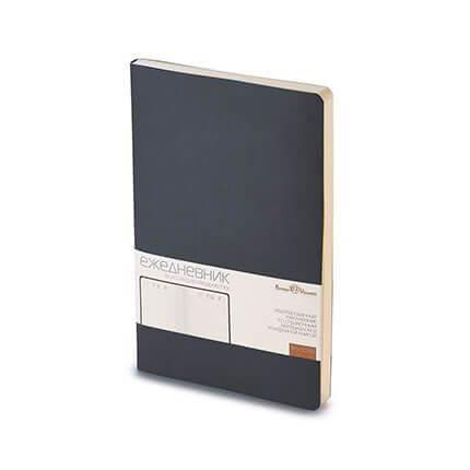 Ежедневник недатированный MEGAPOLIS FLEX (АР), с покрытием SOFT TOUCH, формат A5, бежевая бумага, цвет черный