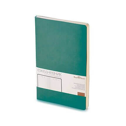 Ежедневник недатированный MEGAPOLIS FLEX (АР), формат A5, бежевая бумага, цвет зеленый