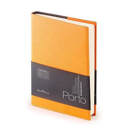 Ежедневник полудатированный PORTO (АР), формат A5, бежевая бумага, цвет оранжевый