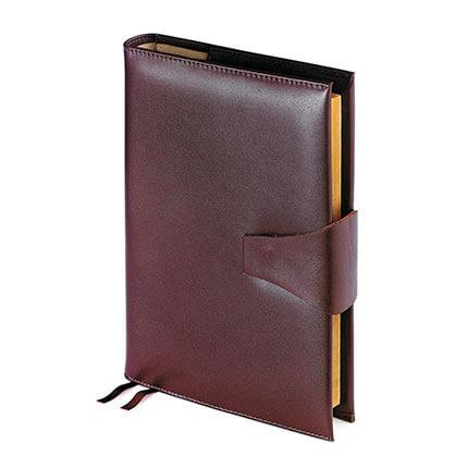 Папка с кольцевым зажимом и блокнотом с застёжкой WINDSOR (АР), формат A4, гладкая кожа, цвет коричневый