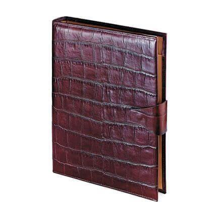 Папка с кольцевым зажимом и блокнотом с застёжкой KONGO (АР), формат A4, фактурная кожа, цвет виски