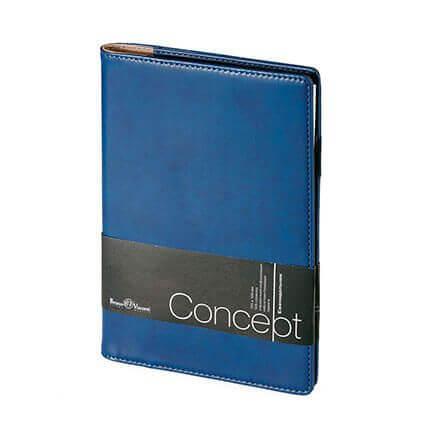 Еженедельник недатированный CONCEPT, формат А5, бежевая бумага, цвет синий