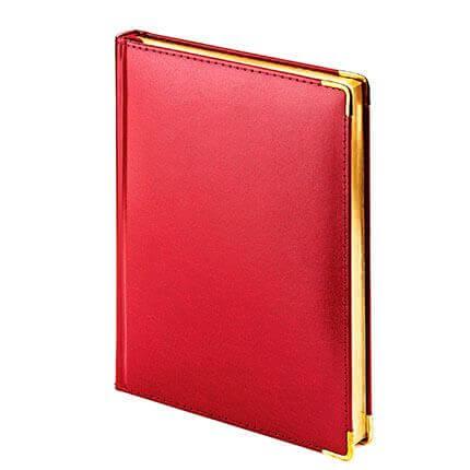 Ежедневник полудатированный IMPERIUM, формат A5, обрез золото, бежевая бумага, цвет бордовый