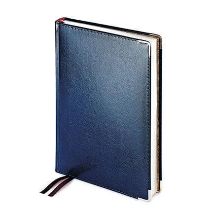 Ежедневник полудатированный IMPERIUM, формат A5, обрез серебро, бежевая бумага, цвет синий