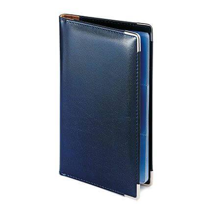 Визитница IMPERIUM, формат A5 на 84 визитки, цвет синий