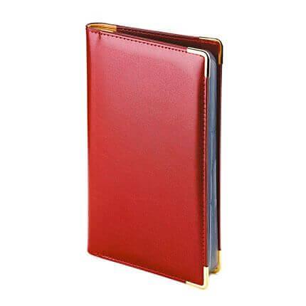 Визитница IMPERIUM, формат A5 на 84 визитки, цвет бордовый