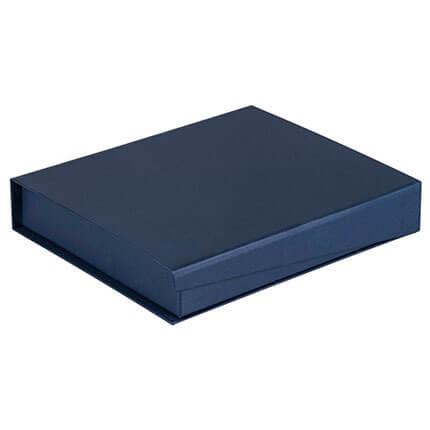 Коробка Duo для ежедневника формата A5 и ручку, цвет синий
