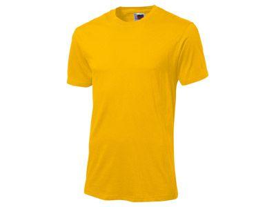 "Футболка ""Super club"" мужская, цвет золотисто-жёлтый, размер L"